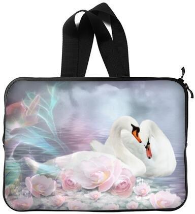 Mejor elegante hermoso cisne de 13 pulgadas mango portátil/ordenador portátil manga bolsa bolsa caso