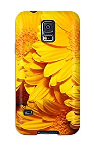 New Diy Design Yellow Flowers For Galaxy S5 Cases Comfortable For Lovers And Friends For Christmas Gifts