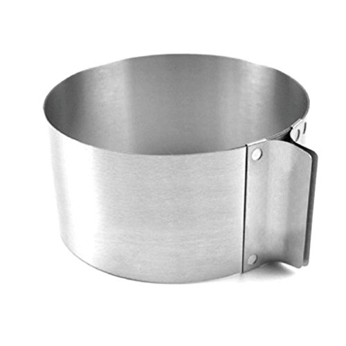 Adjustable Circle Cake Mold 6-12'' Stainless Steel Cake Mousse Round Baking,Non-Stick Baking Pastry Tools, Resistant Low and High Temperature, Easy to Use and Clean Gessppo by Gessppo_Cake Mold (Image #2)