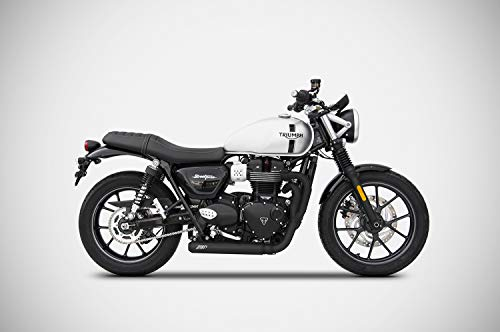 Price comparison product image Triumph Street Twin Zard Exhaust Full System Cross 2in1 Black - only 3.1Kg New