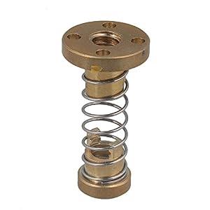 CNBTR T8 Anti Backlash Spring Loaded Nut Elimination Gap Nut DIY CNC 3D Printer Parts for 2mm Threaded Rod Lead Screw from yqltd