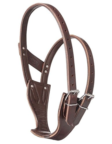 Horse Cribbing Collars - Tough-1 Deluxe Leather Crib Be Gone Comfort Collar Size Medium Horse Tack 52-2700M