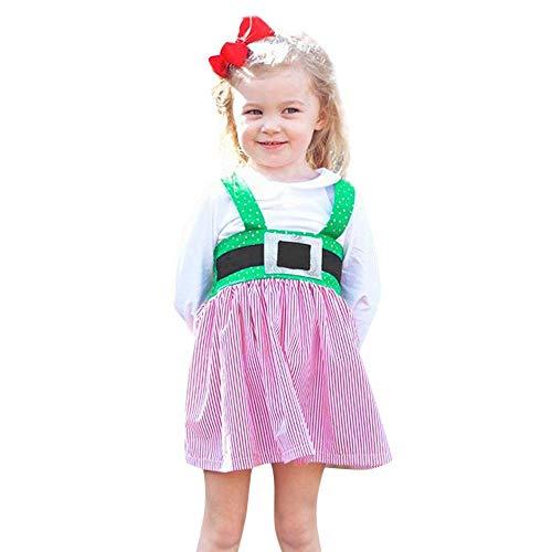 Christmas Dresse Clothes Toddler Kids Baby Girls Sleeveless deer Print Dress -
