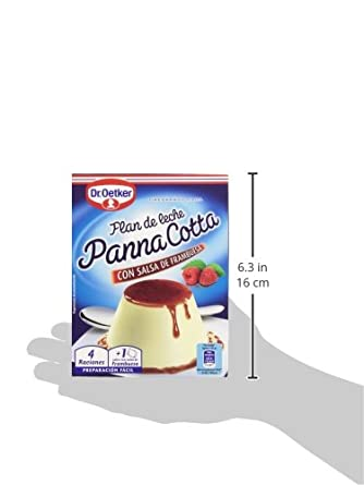 Dr. Oetker - Panna Cotta con salsa de frambuesa - Flan de leche - 110 g: Amazon.es: Alimentación y bebidas