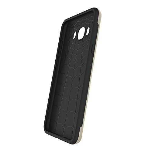 SRY-Funda móvil Samsung Para el caso de la galaxia J710 de Samsung, anti-vibración desprendible PC + cubierta protectora de la contraportada de TPU ( Color : Gold ) Gold