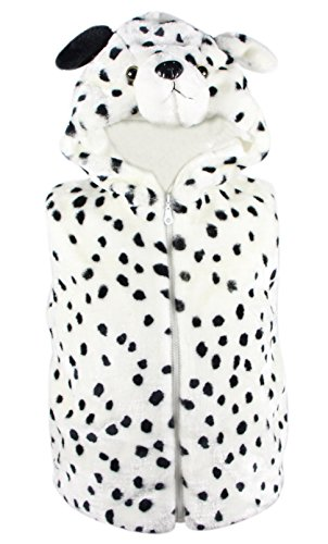 [Bioterti Kids' Animal Hooded Vest for Dress Up/ Manufacture/16 Amazing Styles (Large, Dalmatian)] (Dalmatian Pajama Infant Costumes)