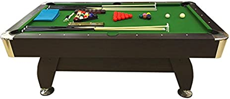 Mesa de billar juegos de billar pool 7 ft GREEN SEASON FULL OPTIONAL carambola Medición de 188 X 96 cm Nuevo embalado disponible: Amazon.es: Deportes y aire libre