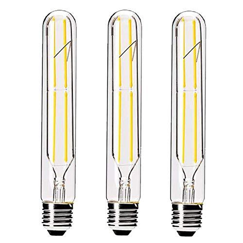 HXMLS Dimmable T10 LED Bulbs 6W,Warm White 2700K,T30 Edison Style Filament Long Tubular Light Bulb, 60 Watt Equivalent…