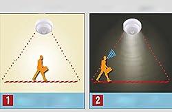 BESSKY AC 85-265V 5W LED PIR Infrared Sensor Motion Detector Light Bulb Lamp US Plug