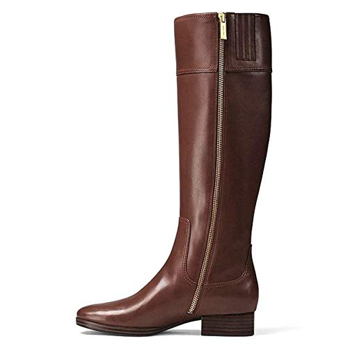 Michael Michael Kors Womens Harland Leather Almond Toe Knee, Mocha, Size ()