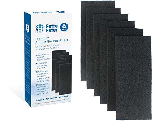Fette Filter - Carbon Air Purifier Pre-Filters, Compatible with Holmes Total Air Purifier Aer1 Series HAP242-NUC I Filter - Compatible with Holmes AOR31 Filter I