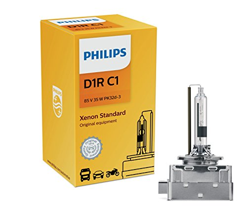 Philips D1R Standard Authentic Xenon HID Headlight Bulb, 1 Pack