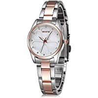 Ladies Waterproof Stainless Steel Wrist Watch for Women - Female Rose Gold,...