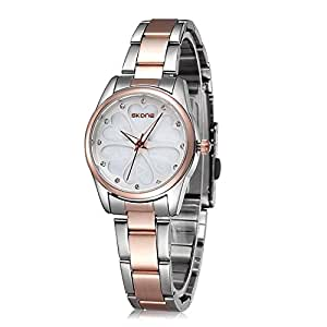 Ladies Waterproof Stainless Steel Wrist Watch for Women - Female Rose Gold, Silver