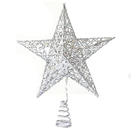 Decoration Five Pointed Star Sodial R Christmas Tree Topper Rh Amazon Co Uk