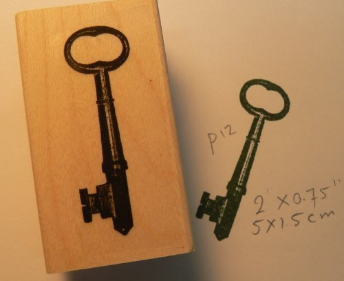 Skeleton Key Rubber Stamp WM P12
