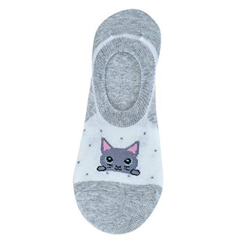 - Houshelp Women Stripe Cotton Sock Slippers Short Ankle Socks No Show for Thin Casual Invisible Non Slip Flat Boat Line