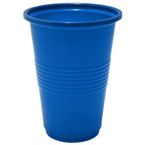Nicole Home Collection 50 Count Plastic Cup, 16-Ounce, Blue