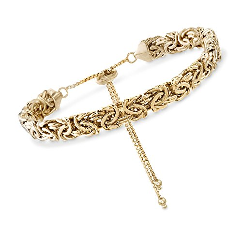 Ross-Simons 18kt Gold Over Sterling Silver Byzantine Bolo Bracelet from Ross-Simons