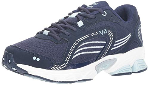 Ryka Women's Ultimate Running Shoe, Blue/Silver, 9.5 M US