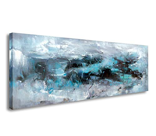 SkywardArt Wall Art , Canvas Print-Blue Abstract Paintings -Modern Artwork for Wall and Home Decor ()