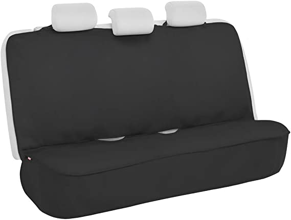 BDK BDSC-278 AllProtect Waterproof Neoprene Rear Bench Seat Cover for Car SUV Truck - Quick Install - Heavy Duty Universal Fit - for Work