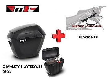 Kit Shad fijacion 3P + Maletas Laterales SH23 Benelli TRK 502 (16-17): Amazon.es: Coche y moto