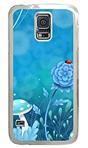 Brian114 Samsung Galaxy S5 Case, S5 Case - High Impact Defender Case for Samsung Galaxy S5 Dreamy Forest Fashion Print Patterns Clear Hard Case for Samsung Galaxy S5 I9600