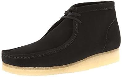 Clarks Originals Men's Wallabee Boot, Black Suede, 7 M