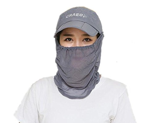 (リアルスタイル)Real Style レディース 女 紫外線 UVカット 日よけ 日焼け止め 帽子 キャップ つば広 アウトドア 無地 ハット フェイスマスク フェイスカバー 登山 釣り ハイキング スポーツ