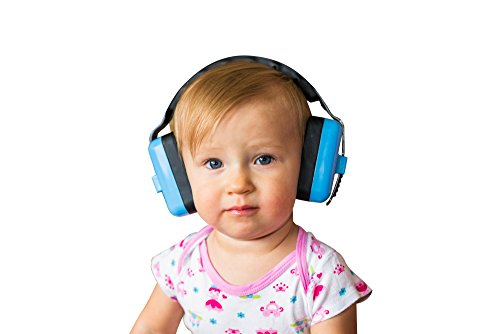 Little Llama Baby 6 Months to 4 Years Old Hearing Protection Ear Muffs - Super Comfortable Noise Reduction and Ear Protection for Your Infant Toddler and Child - Blue