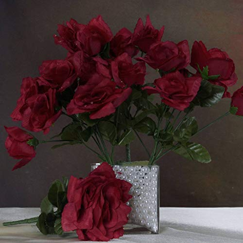 Efavormart 84 Artificial Open Roses for DIY Wedding Bouquets Centerpieces Arrangements Party Home Wholesale Supplies - -