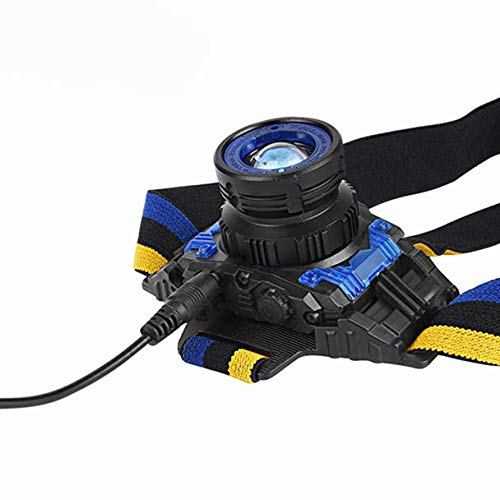 Tikka Headlamp 3 Led (Glumes Newest and Best Version Headlamp, 3000 Lumen Waterproof Zoomable XM-L Q5 LED 3 Modes Bright LED Headlamp Powerful Led Headlight, USB Rechargeable 18650 Battery(Cable not Included))