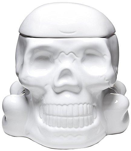 Sourpuss Skull Cookie Jar White]()