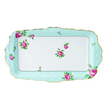 Royal Albert Vintage Formal Sandwich Tray, Polka Blue