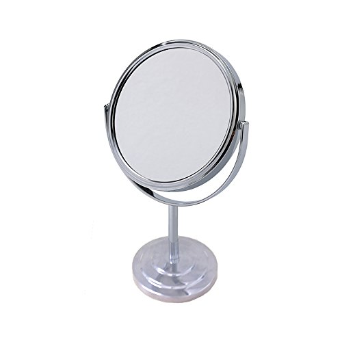 - Vanity Makeup Mirror 5-Inch Swivel Mirror Magnified Round Stand Tilts and Rotates!
