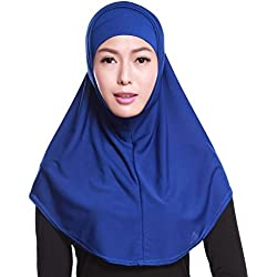 Ababalaya 2-Piece in 1 Al-amira Style Ready-to-Wear Hijab (Blue)