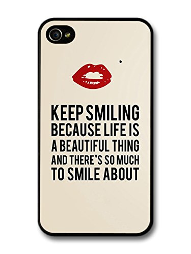 Marilyn Keep Smiling Signature and Kiss Quote coque pour iPhone 4 4S