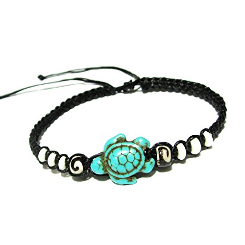 Sea Turtle Hemp Bracelet - Hawaiian Craftier Turquoise for sale  Delivered anywhere in USA