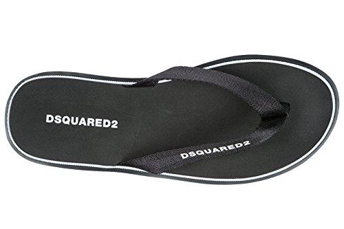 Dsquared2 Mens Gummi Flip Flops Sandaler Svarta
