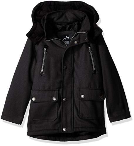 iXtreme Boys' Big' Wool Anorak Jacket, Charcoal,