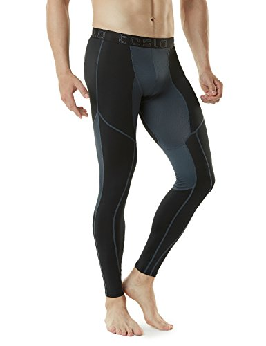 Large Product Image of Tesla Men's Mesh-Panel Compression Pants Baselayer Cool Dry Sports Tights Leggings TUP109 / MUP79