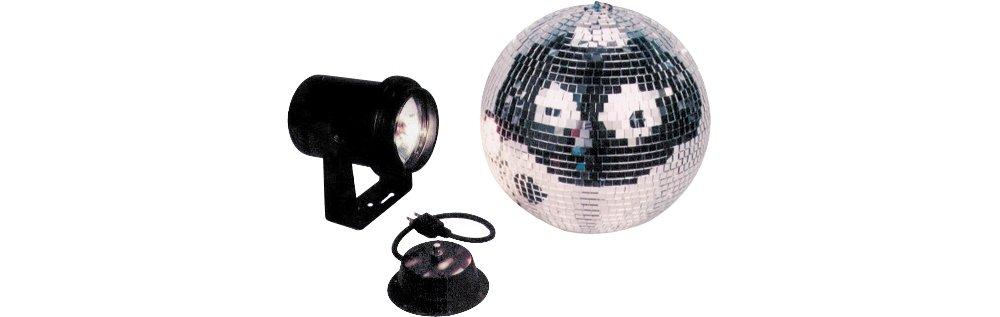 American Dj M-500L 12 Inch Mirror Ball Package