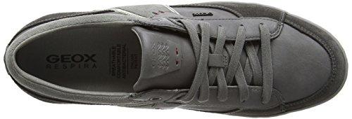 Geox U Box C, Zapatillas de Deporte Exterior para Hombre Gris - Grey (Mud/Grey)