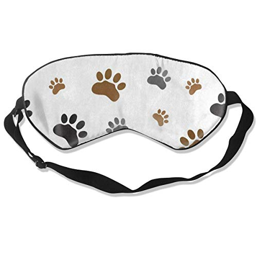 Applique Sleepsack - Sleep Mask Animal Dog Paw Print White Eye Mask Cover with Adjustable Strap Eyemask for Travel, Nap, Meditation, Blindfold