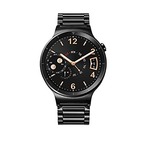 Huawei Watch Black Stainless Steel with Black Stainless Steel Link Band (U.S. Warranty) (Lg Sport Watch)