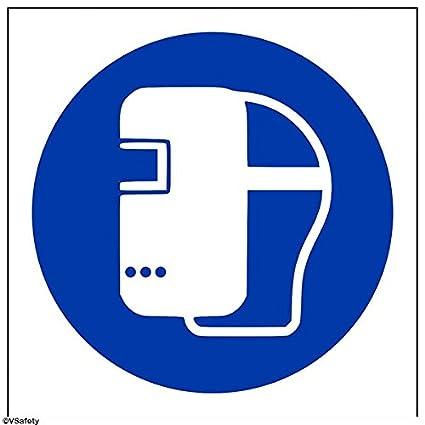 """vsafety 41033 af-r """"soldadura máscara Logo"""" obligatorio EPI rígida, plástico"""