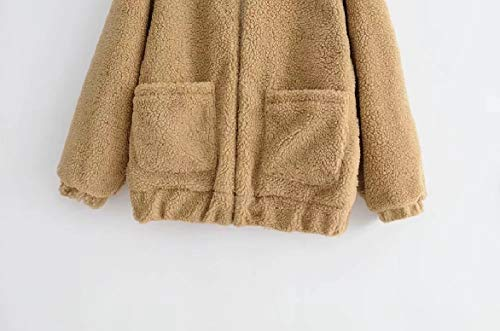 Turn Collar Loose Long Colour Khaki Women Coat Merino Howme Velvet Down Plus Pure X0zwTH