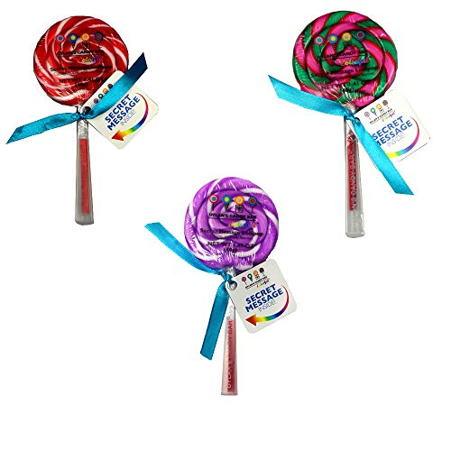 Dylans Candy Bar Secret Message Round Lollipop 3pk