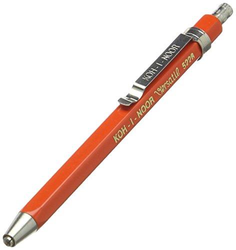Koh-I-Noor 5228 Short Mechanical Clutch Leadholder 2,0mm (90mm) Red